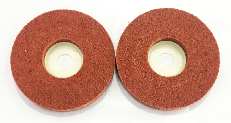 Sander abrasives new product_non woven polishing wheel_red polishing wheel__flap wheel factory